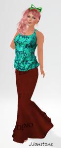 [bilo] May Gift - Nisha Tank Teal & [bilo] Bahra Mermaid Skirt DEMO.
